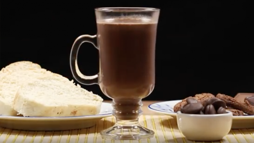 Chocolate quente com nutella